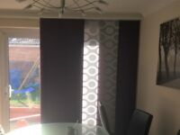Gorgeous Purple and Silver Panel Blinds