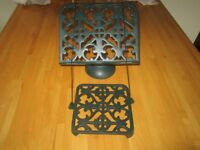 Cook book and trivet