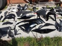 2010 zx6r oem parts inc light, fairing, seats, covers etc All in Black