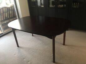 Rosewood veneer extending dining table