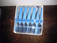 Set 6 cake ss forks
