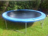 12 ft trampoline in good used condition with cover