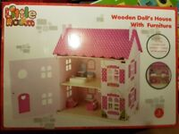 DOLLS HOUSE COMPLETE WITH FURNITURE, BRAND NEW IN BOX