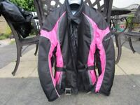 Ladies Fabric Motorcycle Jacket, Size 12, Frank Thomas brand, excellent condition