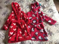 Two girls dressing gowns 18-24 months