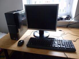 FAST Slim Desktop PC AMD A10 4.0GHz + MONITOR