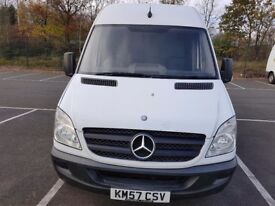 2007 57 MERCEDES BENZ SPRINTER 311 2.1 CDI MEDIUM WHEELBASE HIGH ROOF PANEL VAN 12 MONTHS MOT NO VAT