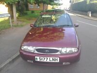 Ford Feista Ghia 1.25 Zetec brand new MOT and Toad Alarm System Mint condition 73k metalic burgundy