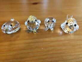 4 swarovski animals