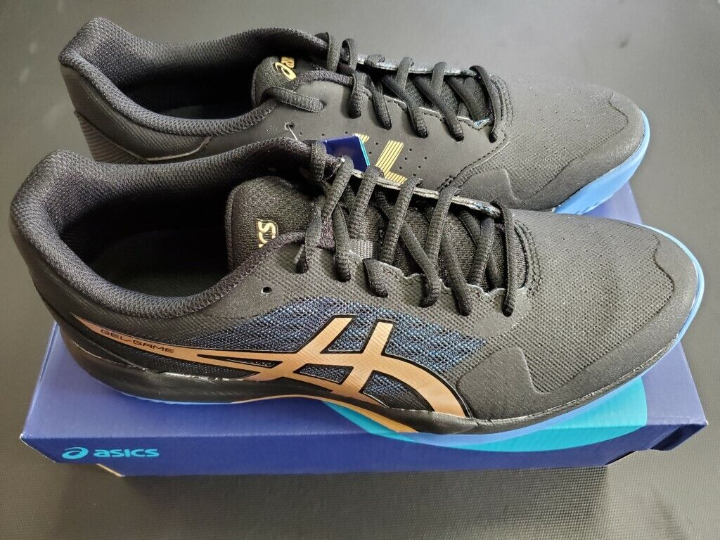 Men's Asics Gel Game 7 Tennis Shoe Black/Champagne 2020 Colo