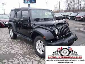 2014 Jeep WRANGLER UNLIMITED SPORT 4X4 V6 MAG MPIEDS SIRIUS EN M