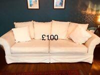 Lovely cream 3/4 seater sofa