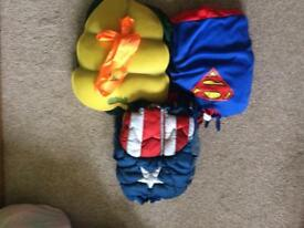 Super Heroes costumes outfits Superman Ninja Turtle Captain America