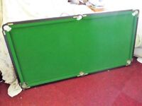SNOOKER TABLE 6feet by 3feet, with some accessaries.