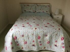 BEDSPREAD FOR DOUBLE BED & TWO PILLOWSHAMS