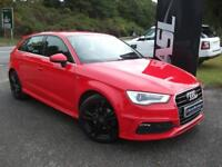 AUDI A3 1.6 TDI S Line 5dr (red) 2014
