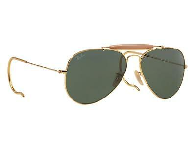 11d52f5189587 RAY BAN 3030 LO216 Outdoorsman Polarized Sunglasses Gold Green Classic G15  Pilot