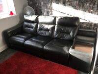 Chairs - Three Electric Recliners and Side Storage Unit - Leather