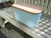 Rare Duck Egg Blue Nigella Lawson Ceramic Bread Bin Kitchen Living