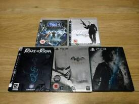 PS3 5 TOP TITLES GAMES BUNDLE STEEL SPECIAL EDITION