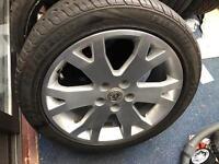 Zafira GSI polished snowflake alloy wheel 225/45/17