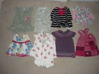 Large bundle of BABY GIRLS' CLOTHES, 0-6 months