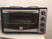 Andrew James Mini Oven with 2 Hobs (Great for Temporary Kitchen!)