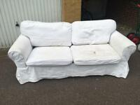 IKEA Ektorp two seater sofa bed free London delivery