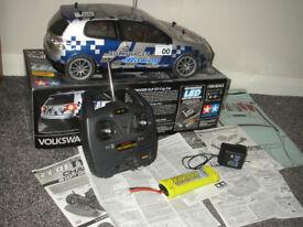 Tamiya Volkswagon Golf GTI Cup LED Car + Radio Gear + Slow Charger + Battery