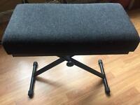 Adjustable height piano / keyboard bench