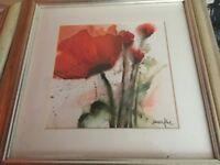 4 poppy prints