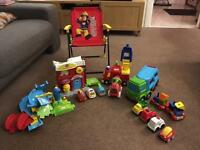 Vtech Toot Toot Fire Engine Station Vechicles Cars Early Learning Centre Car Transporter