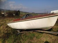 boat in need of renovation-Sea Shanty-open model by Norman Pearn of Looe England