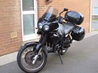 Triumph Tiger 885i with full luggage