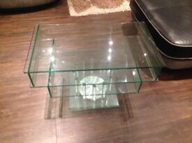John Lewis Glass Rotating Tv stand in excellent condition