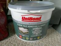 Unibond floor tile adhesive and grout - grey