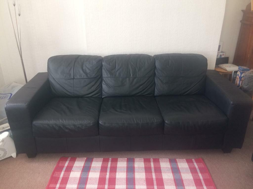 IKEA Skogaby leather sofa set almost new
