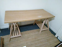 IKEA Desk - x2 Trestles and Table Top