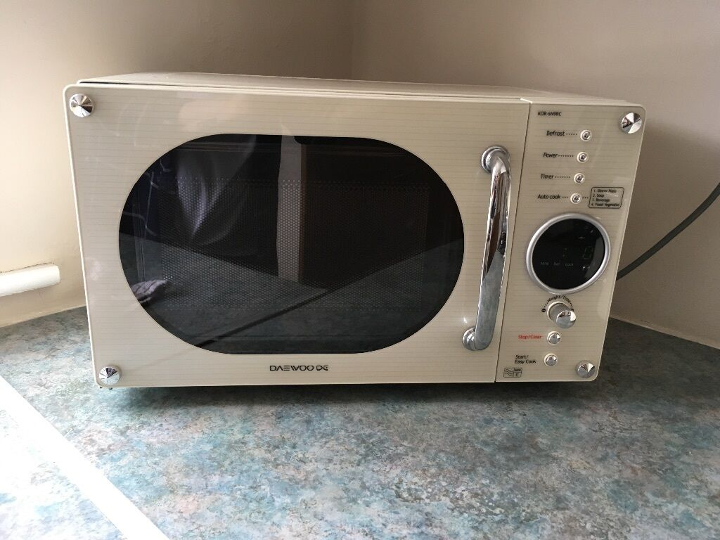 Daewoo Cream Microwave Kor6n9rc Complete Oven Vintage Retro 20l 800w