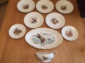 Veritable game bird dinner set