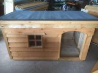*New Large Dog Kennel with Porch and Window and Insulation* (Box, Run, House, Bed, Heavy Duty)
