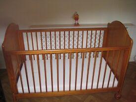 Mama's and Papa's cot/bed and mattress