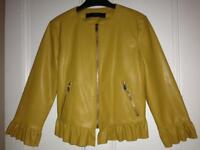 Ladies faux leather Zara jacket