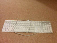Apple keyboard missing letters Q and W and two more on the right hand side