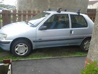 Peugeot 106 - Light Blue/Silver - Diesel 1.4. SELLING FOR PARTS.