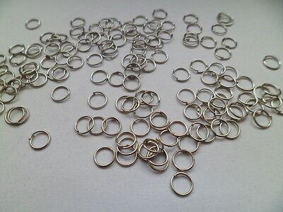 100 Stück silber farbige biegeringe öse Binderinge offen 7 mm