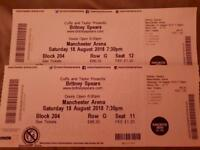 Britney Spears - Manchester 18th August 2 tickets