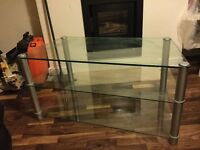 Glass TV stand, very good condition