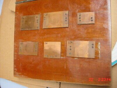Copper Thickness Standards Set In Wood Box Thickness Gage Machinist Tool