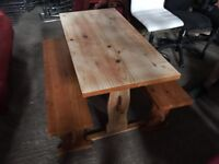 Small Dining Table With Bench Seats - Kitchen - Bar - Diner - Summer House